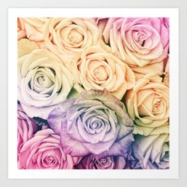 Some people grumble - Colorful Roses - Rose pattern Art Print