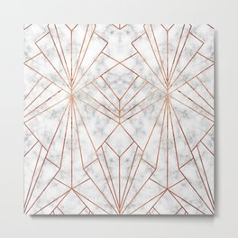 Art Deco Marble & Copper - Large Scale Metal Print