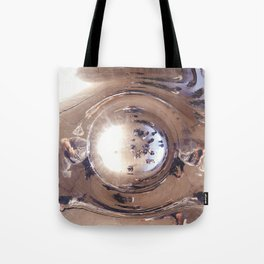 Reflecting, Under Cloud Gate, Chicago Tote Bag