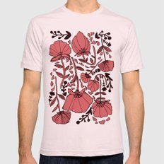 Nature Mens Fitted Tee LARGE Light Pink