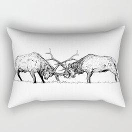 Wapiti fight Rectangular Pillow