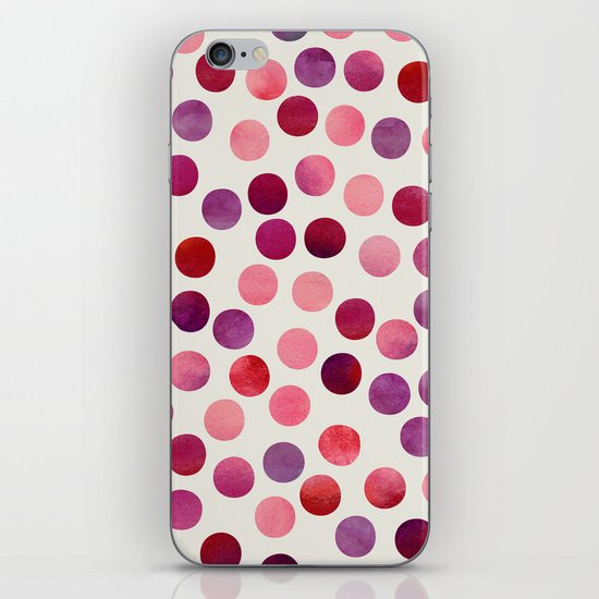 Watercolor Dots_Berry by zJacqueline and Garima iPhone & iPod Skin