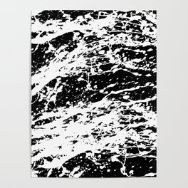 Black and White Paint Splatter Poster
