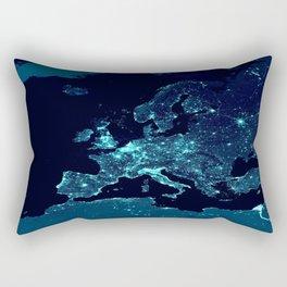 Earth's Night Lights : Teal Rectangular Pillow