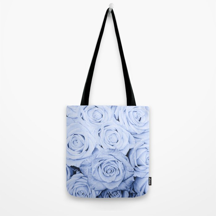 Some people grumble - Blue Rose, Floral Roses Flower Flowers Tote Bag