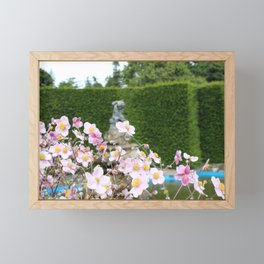 Flowers and Fountains Framed Mini Art Print