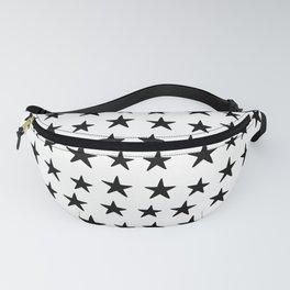 Star Pattern Black On White Fanny Pack