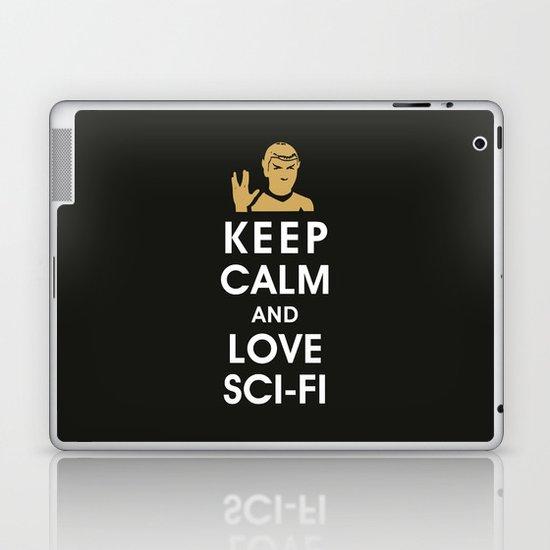 Keep Calm and Love Sci-Fi Laptop & iPad Skin