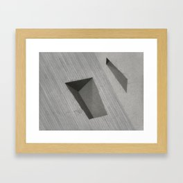 Subtracted Cube Framed Art Print