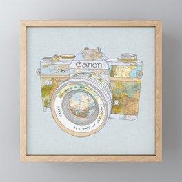 TRAVEL CAN0N Framed Mini Art Print