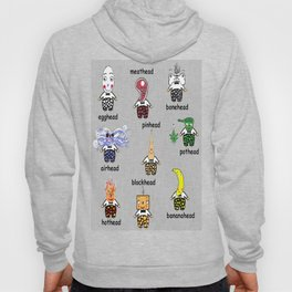 Weird and Wacky Head Types Hoody