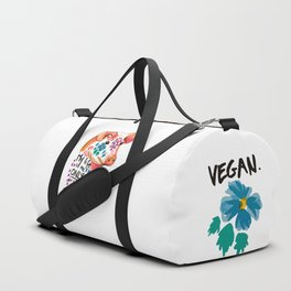My life is the only thing I have. Go Vegan. Duffle Bag