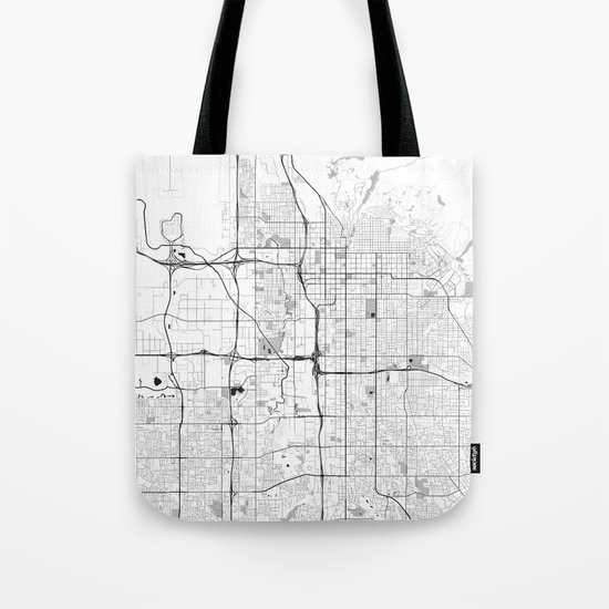 Salt Lake City Map Gray Tote Bag