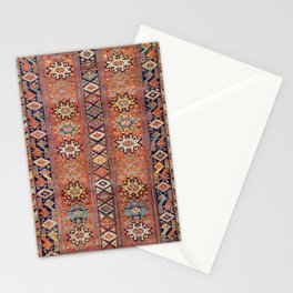 Southwestern Farmhouse I // 19th Century Colorful Red Yellow Blue Green Aztec Farm Stars Pattern Stationery Cards