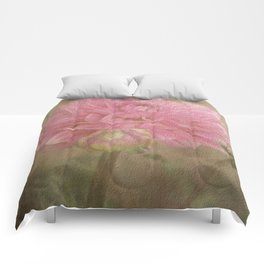 Soft Graceful Pink Painted Dahlia Comforters