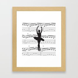 ballerina art, music Notes , girls nursery art, ballerina décor , girls nursery art , Framed Art Print