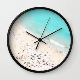 beach love III square Wall Clock