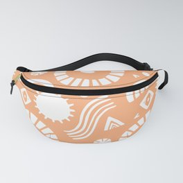 summer vacation, tangerine Fanny Pack