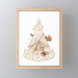Spring Teepee Framed Mini Art Print