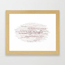 Books Everyone Should Read (Virgin-version) Framed Art Print
