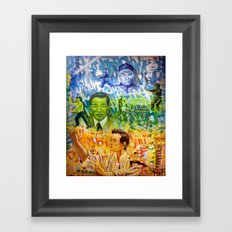 3 Grandmasters Framed Art Print