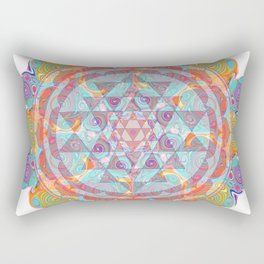 Serendipity Sri yantra Rectangular Pillow