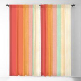 Rainbow Chevrons II Blackout Curtain