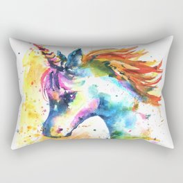 Unicorn Splash Rectangular Pillow