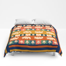 Multicolored bear pattern Comforters