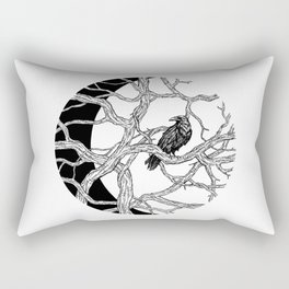 Moon Raven Rectangular Pillow