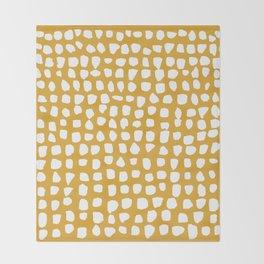 Dots / Mustard Throw Blanket