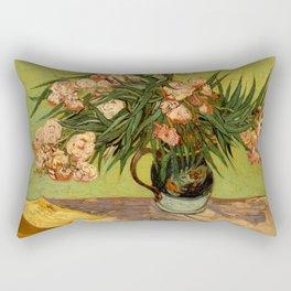 Oleanders by Vincent Van Gogh - Vintage Painting Rectangular Pillow