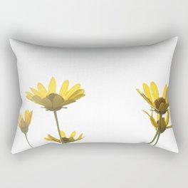 white wildflowers Rectangular Pillow