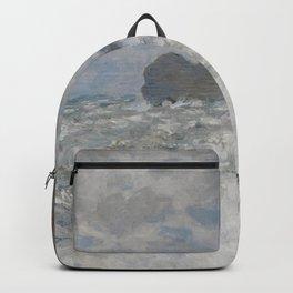 Claude Monet - Rough weather at Étretat.jpg Backpack