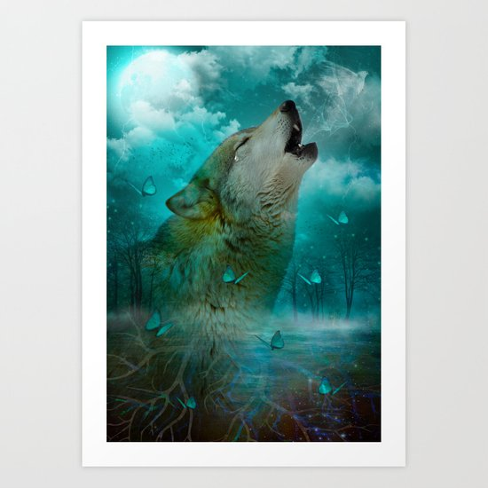 I'll See You In My Dreams (Cry of the Wolf) Art Print