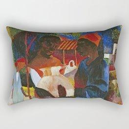 August Macke Market in Tunisia 1910 Rectangular Pillow