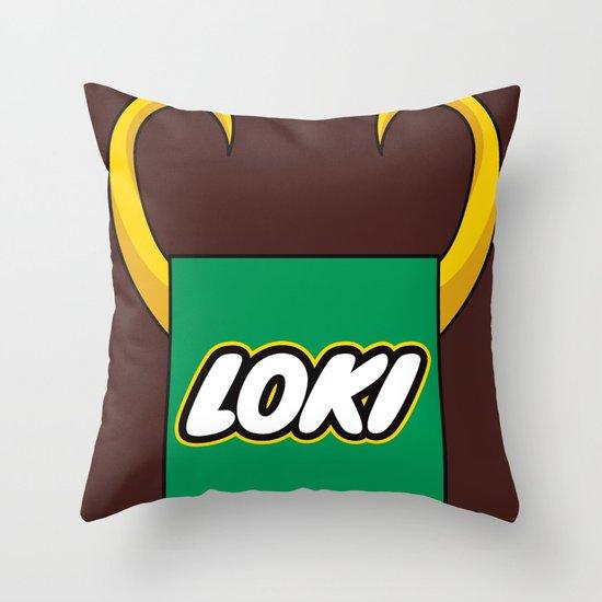 Loki Logo Throw Pillow