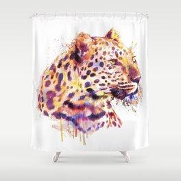 Leopard Head Shower Curtain