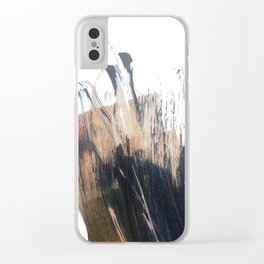 Clarity: a pretty, minimal abstract in rose gold and deep blue Clear iPhone Case