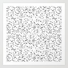 Speckles I: Double Black on White Art Print