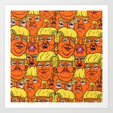 Trump Nightmare Pattern Art Print