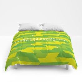 Boustrophédon Comforters