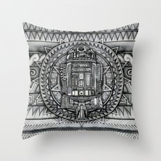 Aztec r2d2 Droid iPhone 4 4s 5 5c 6, pillow case, mugs and tshirt Throw Pillow