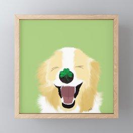It's A Happy Dog Life Framed Mini Art Print