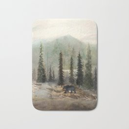 Mountain Black Bear Bath Mat