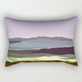 Sunset over the Valley Rectangular Pillow