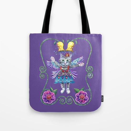 Angel Kitty (Purple) Tote Bag