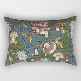 mushroom forest Rectangular Pillow