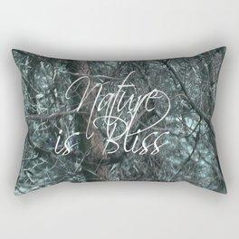 Nature is Bliss  Rectangular Pillow