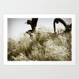 Tall Grass in the Wind Art Print